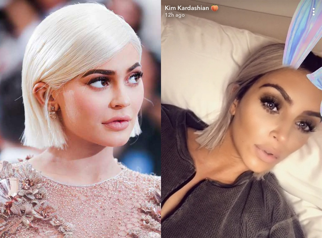 Kim Kardashian Cuts Blond Hair Even Shorter Channeling