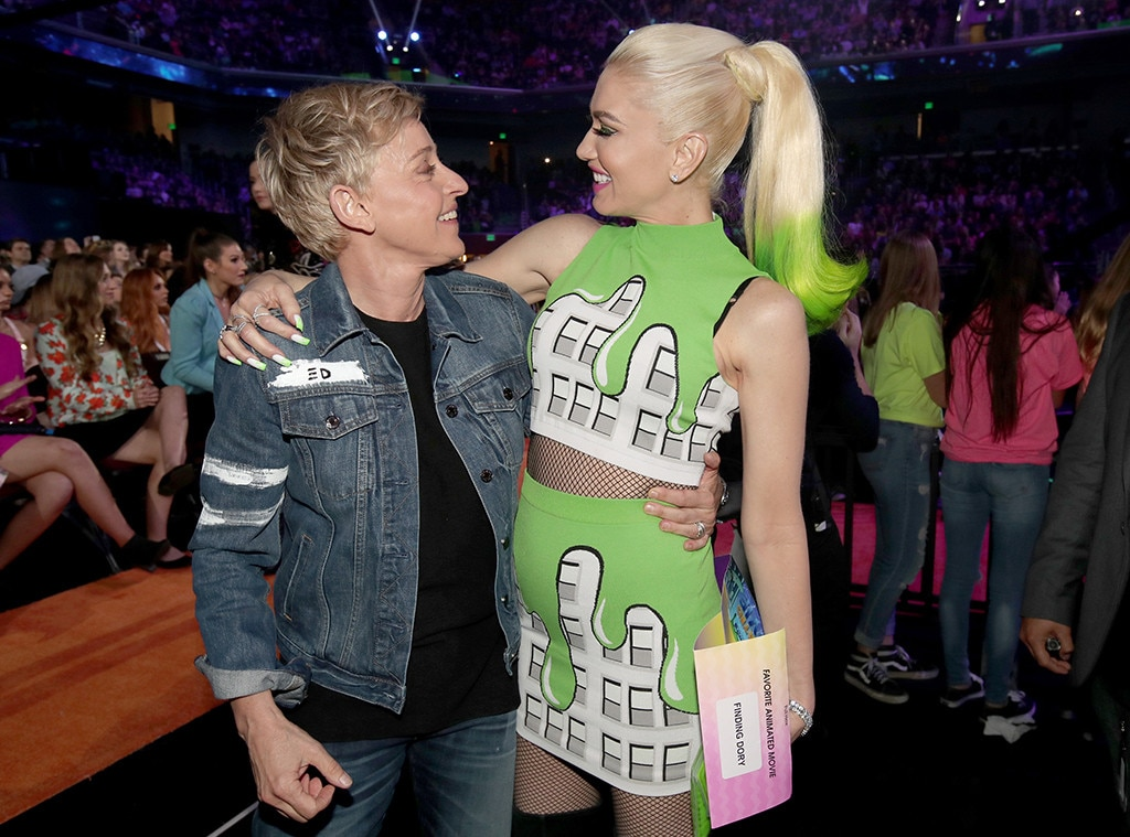 Ellen DeGeneres, Gwen Stefani, 2017 Kids Choice Awards, Candids