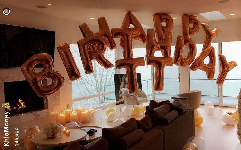 Khloe Kardashian Throws A Gold Themed Birthday Party For