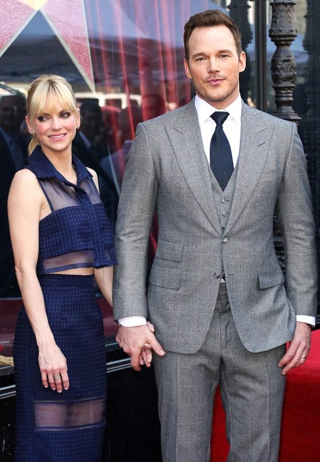 Chris Pratt, Anna Faris, Hollywood Walk of Fame