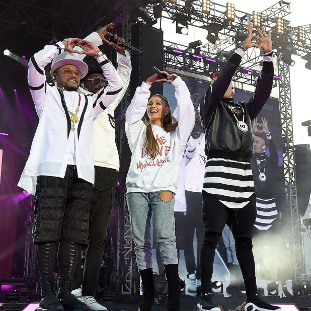 One Love Manchester benefit concert, Ariana Grande, Taboo, will.i.am, The Black Eyed Peas, Instagram