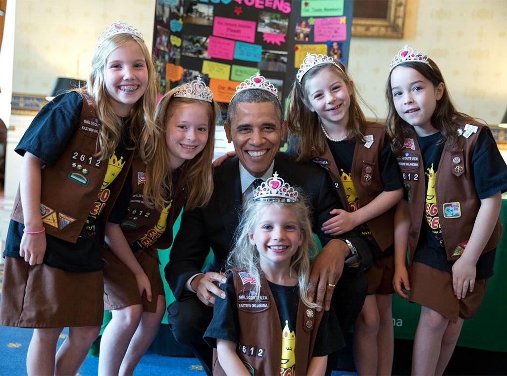 Barack Obama, Girl Scouts