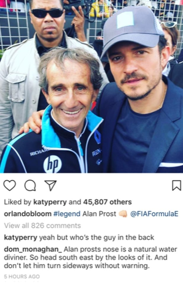 Orlando Bloom, Instagram, Marrakesh E-Prix, Formula E