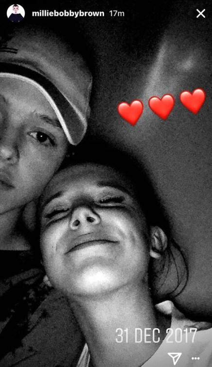 Millie Bobby Brown, Jacob Sartorius, Instagram