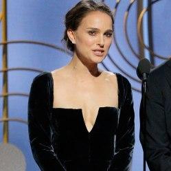 Image result for Natalie Portman golden globes