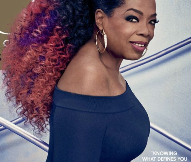 Oprah Winfrey Rocks Pink And Purple Hair On O The Oprah Magazine Cover