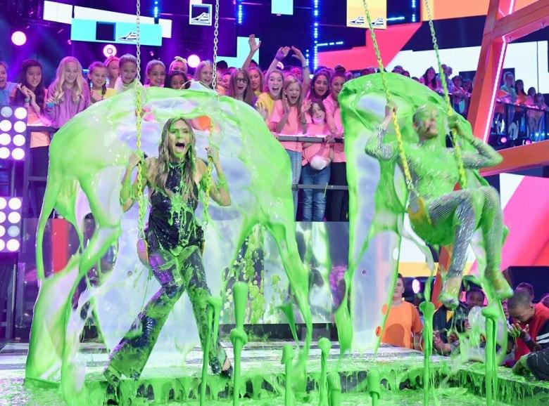 Heidi Klum, Mel B, Nickelodeon Kids Choice Awards 2018, Slimed