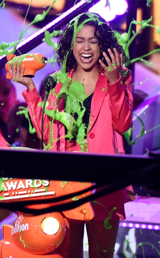 Liza Koshy, Nickelodeon Kids' Choice Awards 2018, Winners, Slimed