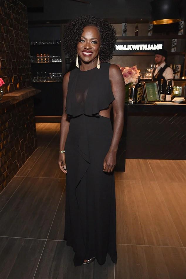 Viola Davis, Pre-Oscars 2018 Party