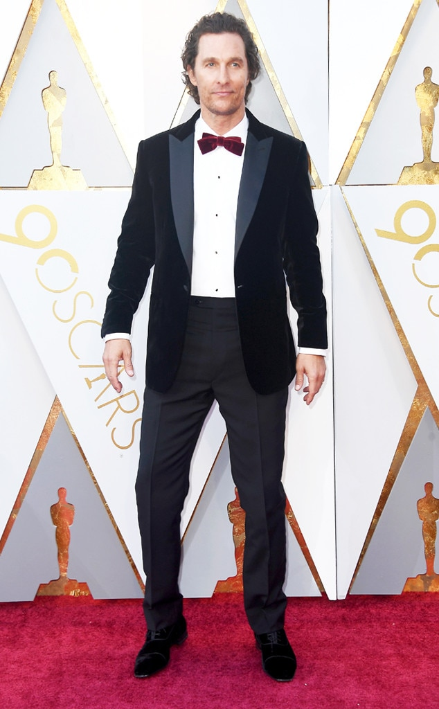 Matthew McConaughey, 2018 Oscars, Red Carpet Fashions
