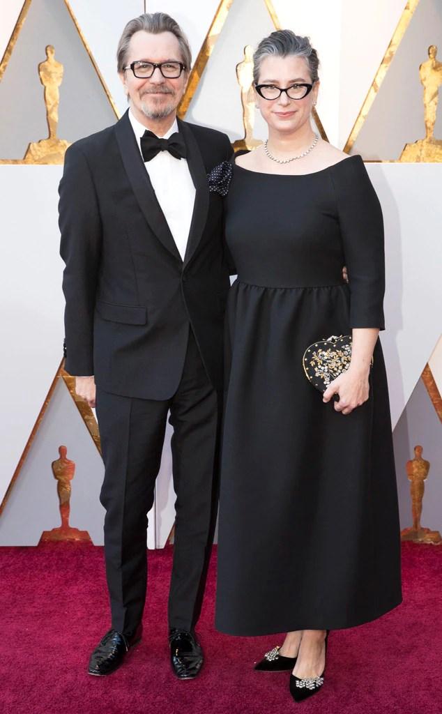 Gary Oldman, Gisele Schmidt, 2018 Oscars, Couples