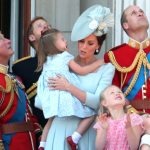 Princess Charlotte trips at the Trooping the Colour parade for Queen Elizabeth II birthday celebration