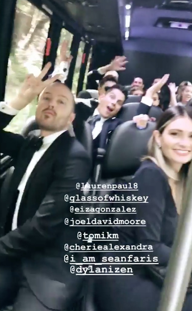 Cara Santana, Aaron Paul, Lauren Paul, Ashley Green Wedding