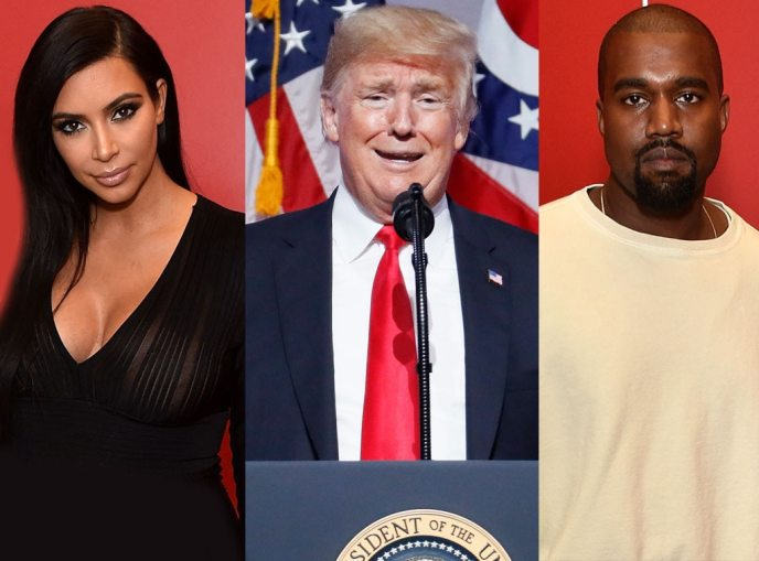Kim Kardashian, Donald Trump, Kanye West