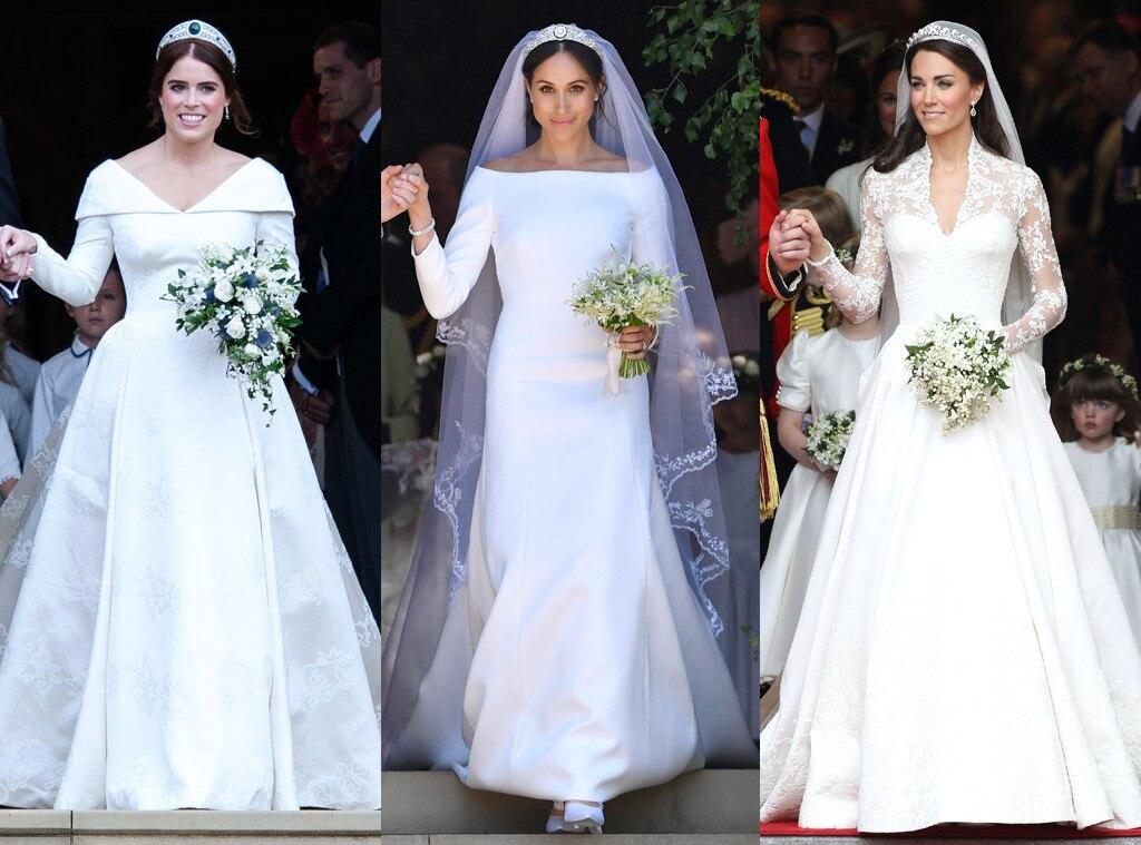 How Princess Eugenie's Wedding Dress Compares To Kate