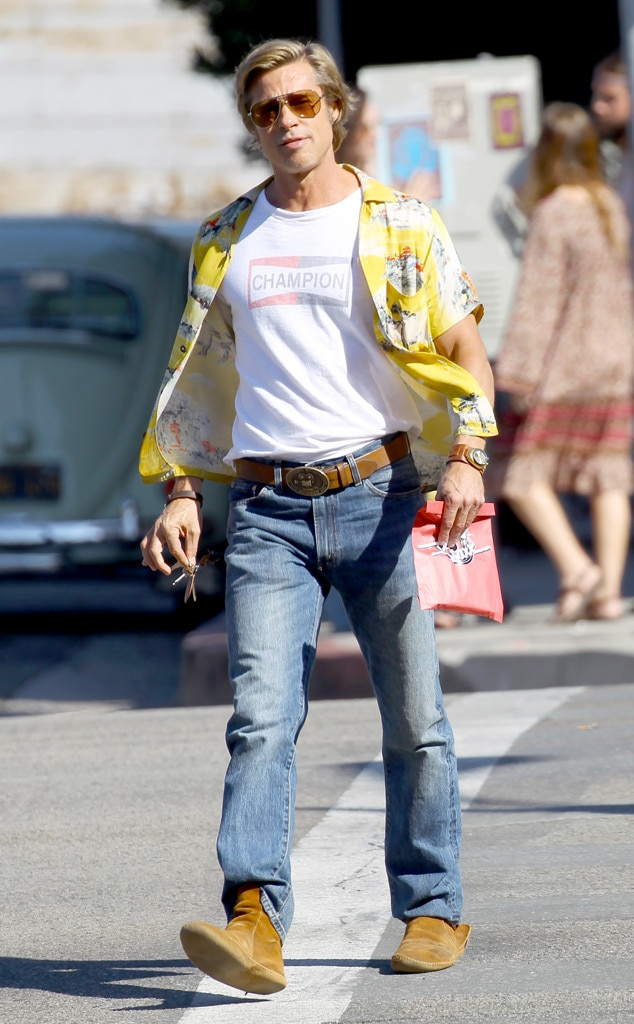 Brad Pitt, Once Upon a Time in Hollywood Filming