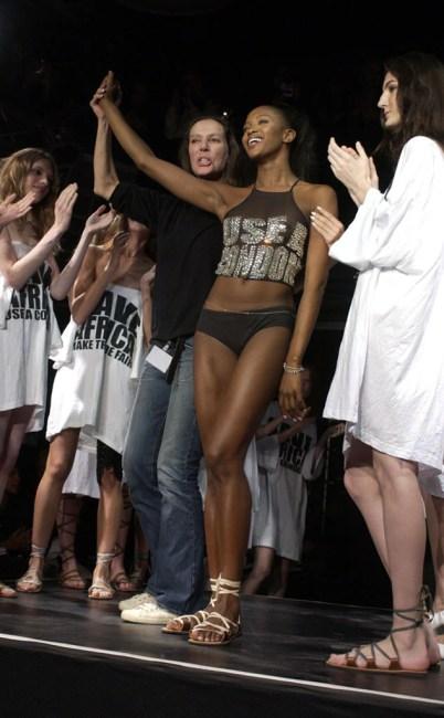 Katharine Hamnett Fashion Show, Naomi Campbell 2003