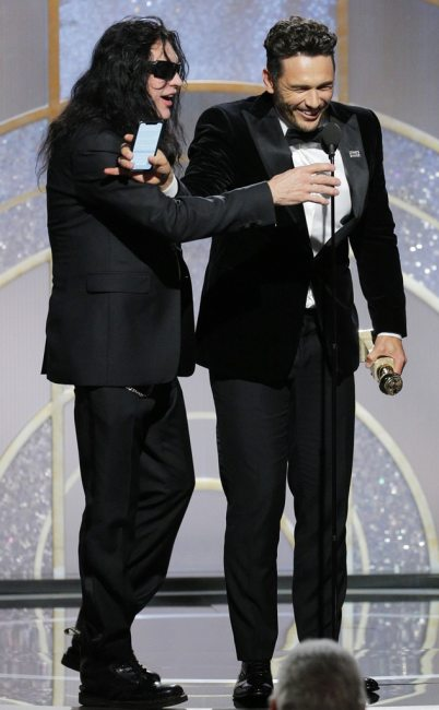 James Franco, Tommy Wiseau, 75th Annual Golden Globe Awards - Show
