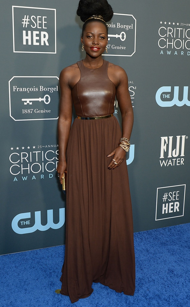 Lupita Nyongo, 2020 Critics Choice Awards, Red Carpet Fashion