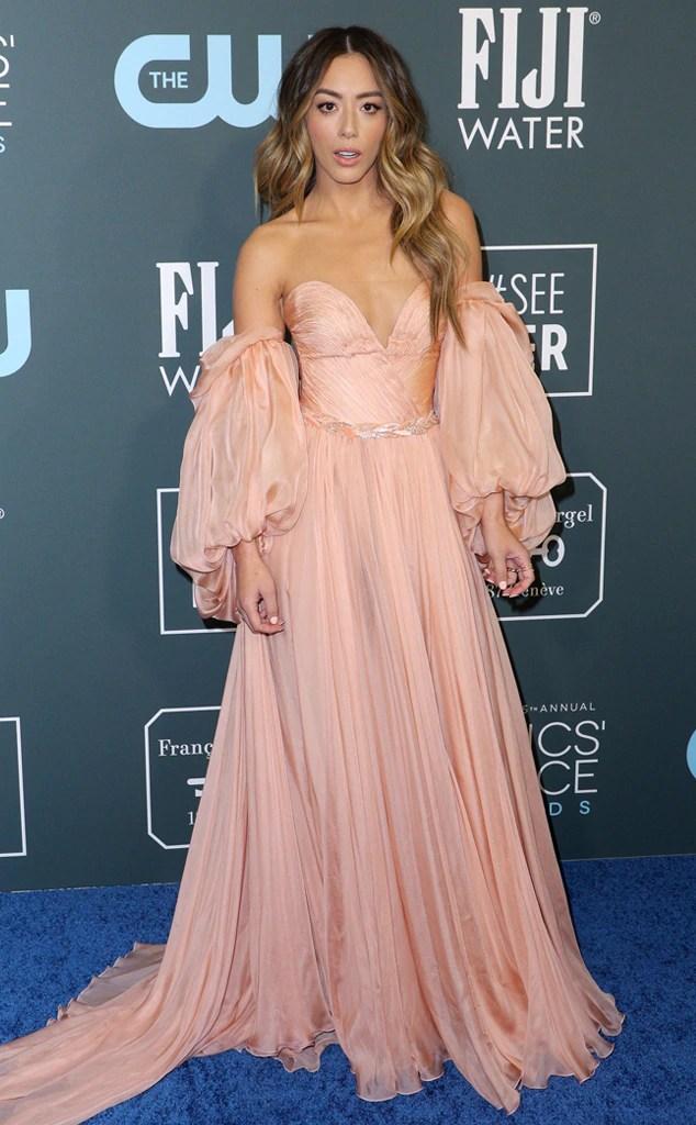 Chloe Bennet, 2020 Critics Choice Awards, Red Carpet Fashion
