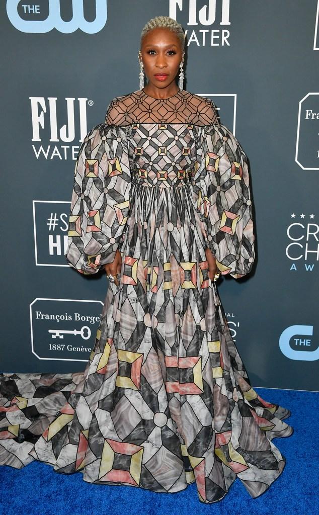 Cynthia Erivo, 2020 Critics Choice Awards, Red Carpet Fashion