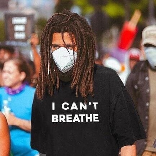 J Cole from Celebrities Attending Protests Over George Floyd's ...