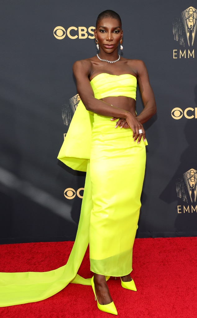 Michaela Coel, 2021 Emmys, Emmy Awards, Red Carpet Fashions, Arrivals