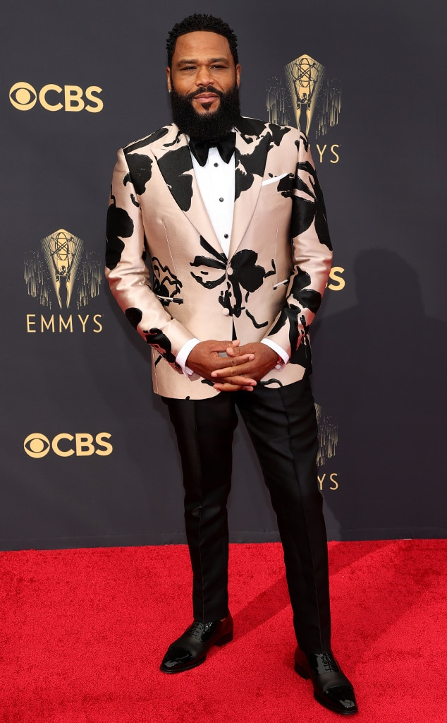 Anthony Anderson, 2021 Emmys, Emmy Awards, Red Carpet Fashions, Arrivals