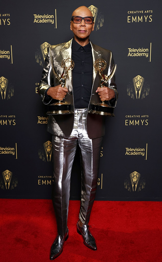 RuPaul, 2021 Emmys, Emmy Awards, Red Carpet Fashions