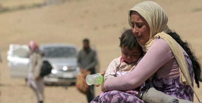 Jezidi bježe od boraca Islamske države [AP]