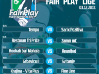 Najava drugog kola Fair Play malonogometne lige