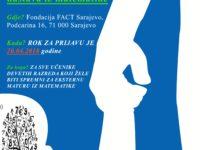 Fondacija FACT organizuje besplatnu pripremnu nastavu za maturu iz matematike