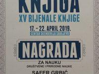 Safer Grbić dobio nagradu za nauku 31. Sarajevskog sajma knjiga
