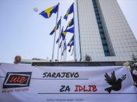 Sarajevo: U zrak pušteno 1.000 balona za nedužne civile Idliba