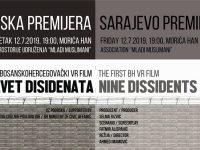 """Sarajevska premijera igrano-dokumentarnog filma """"Devet disidenata"""""""
