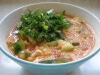 Kremasta paradajz supa s rižom