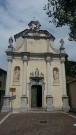The outside of San Antonio Church, Aquileia, Italy. Photo taken by Trina Otero with Samsung Galaxy Note 2.