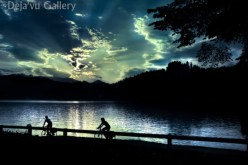 This was captured right from our table. Lake Bled, Slovenia, June 2013. Photo © Deja'vu Gallery