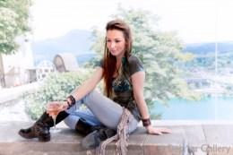 Jess playing coy. Lake Bled Castle, Slovenia, June 2013. Photo © Deja'vu Gallery