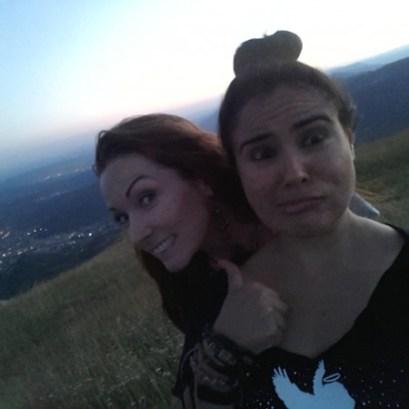 She's so goofy! Dolomites, Italy. Photo taken by Trina Otero.