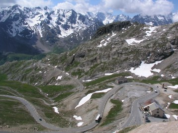 Widok z przełęczy Col du Galibier