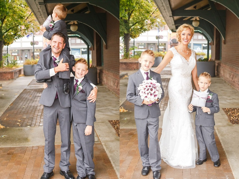 Bride and Groom with Sons