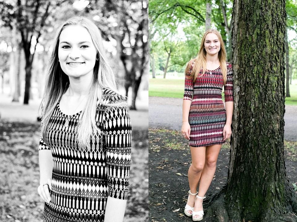 Blonde senior girl