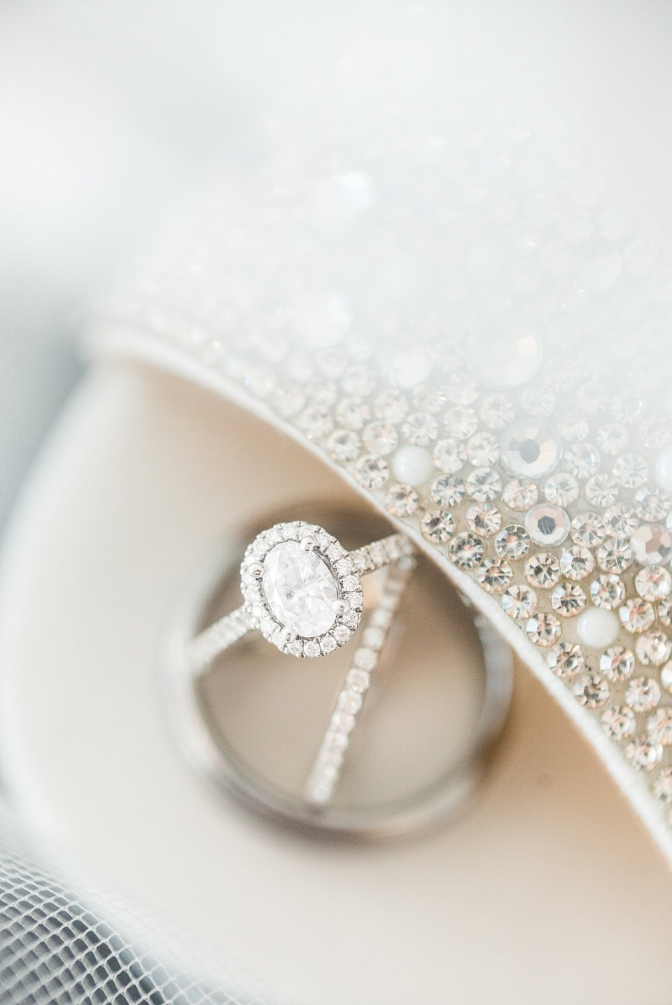 Ring and shoe details for a Glamorous Wedding at the Avalon