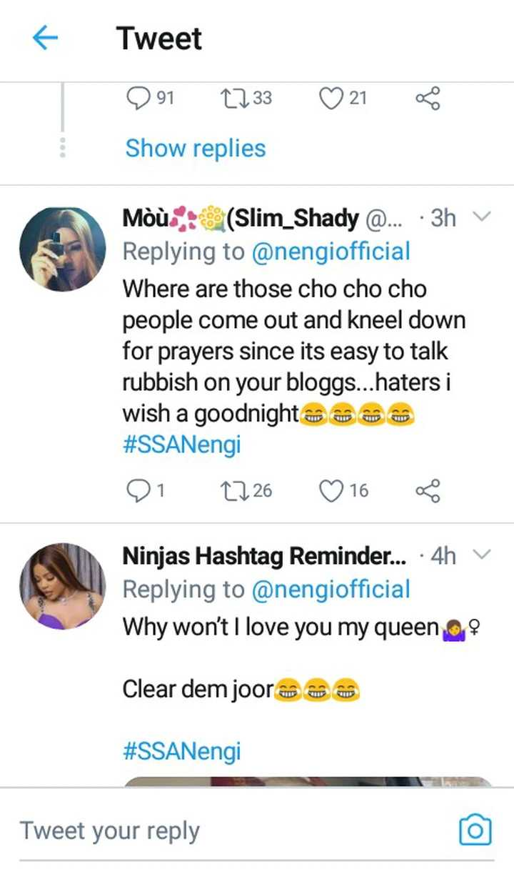 Nengi responds after she was removed as 'The Face Of The Girl Child' in Bayelsa state