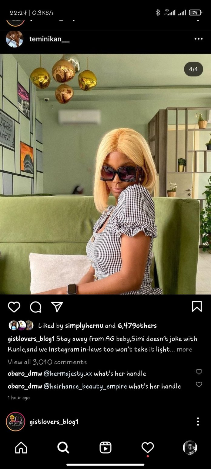 Adekunle Gold is cheating on Simi with Teminikan - Controversial Blogger Gistlover alleges