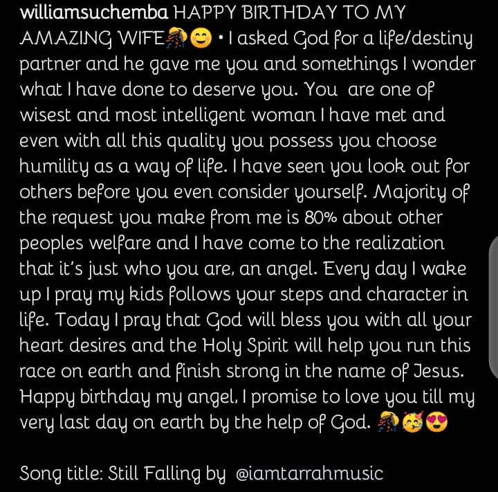 Actor Williams Uchemba celebrates his wife as she turns a year older today
