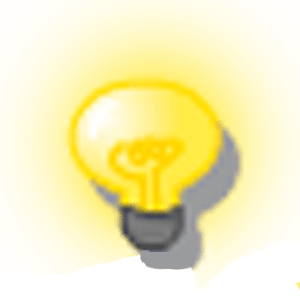 The old bulb graphic had a drop shadow and gradient glow.