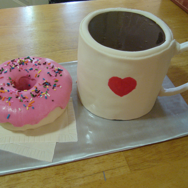 Coffee & Doughnut Cake
