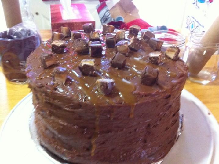 The prepared cake